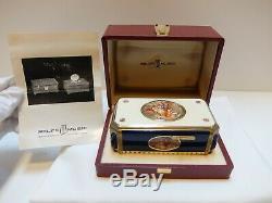 Vintage Reuge Enamel & Lapis Singing Bird Box Automaton Music Box (watch Video)