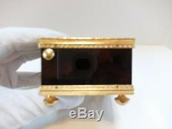 Vintage Reuge Enamel Singing Bird Box Automaton Music Box (watch Video)