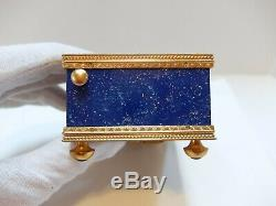 Vintage Reuge Lapis Lazuli Singing Bird Box Automaton Music Box (watch Video)