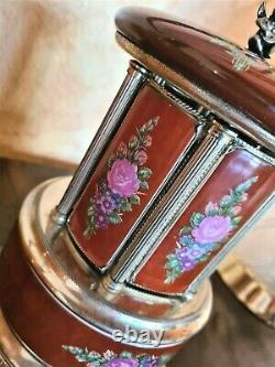 Vintage Reuge Lipstick Cigarette Music Box Carousel Holder, Made in Italy