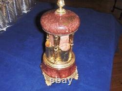 Vintage Reuge Lipstick Cigarette Music Box Romance Carousel Switzerland Italy