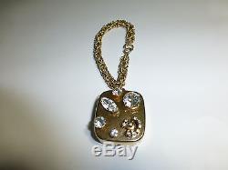 Vintage Reuge Miniature Music Box Musical Bracelet Rhinestone Design (See Video)