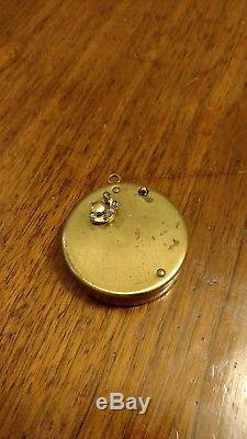 Vintage Reuge Miniature Music Box Musical Pendant, Necklace, Charm Rare