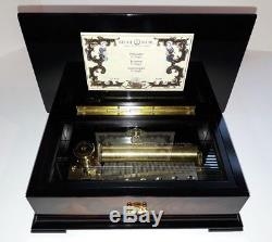 Vintage Reuge Mint Condition 3 Air 72 Note Music Box (Watch Video)