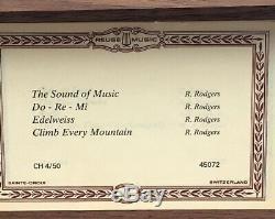 Vintage Reuge Music Box 4/50 /4 Songs Working Made In Sainte- Croix Switzerland
