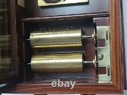 Vintage Reuge Music Box 5 Cylinder Johann Strauss #1437/2500 Franklin Mint
