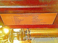 Vintage Reuge Music Box 5 Cylinder Johann Strauss #1815/2500 Franklin Mint 1985