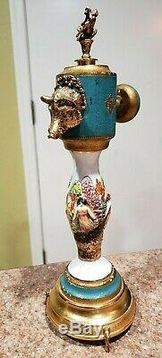 Vintage Reuge Music Box Capodimonte style Pepper Turn Knob Grinder Mill