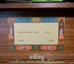 Vintage Reuge Music Box Ch 3/72 Music Box Dancer 3 Parts F Mills Excellent