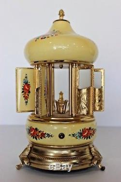 Vintage Reuge Music Box Lipstick Cigarettes Holder Swiss Musical Movement Italy