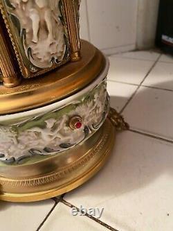 Vintage Reuge Music Box Lipstick Holder Panel Cherubs Devil Face
