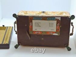 Vintage Reuge Music Box Sainte Croix Switzerland 4/50 Emperor Waltz More