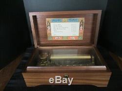 Vintage Reuge Music Box Swiss Musical Movement Beautiful