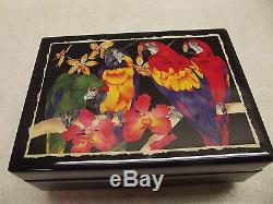 Vintage Reuge Music Jewelry Dresser Box Gavotte Bach