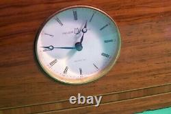 Vintage Reuge Musical Box With A Clock With Swiss Musical Movement, L-f106