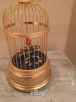Vintage Reuge Musical Chirping and Moving Bird Music Box