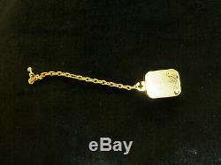 Vintage Reuge Musical Miniature Music Box Charm Gold Gilt Case With Chain