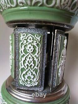 Vintage Reuge Ornate Ceramic Cigarette Lipstick Mosque Carousel