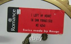 Vintage Reuge Romance Carousel Enameled Music Box I Left My Heart in San Fran
