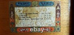 Vintage Reuge Saint Croix 50 Note 4 Tune Music Box Plays Strauss Danub Beautiful