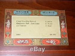 Vintage Reuge Saint-Croix CH 3/72 Casta Diva Music Box