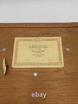 Vintage Reuge Sainte Croix 3/72 Keys Music Box Phantom of The Opera 3 Song