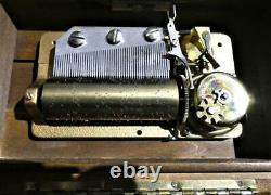 Vintage Reuge Sainte Croix 50/3 Burled Wood Veneer Music Box-3-Classical Tunes
