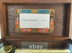 Vintage Reuge Sainte Croix 72 Keys 3 Songs Music Box The Theiving Magpie