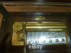 Vintage Reuge Sainte Croix 72 Keys Music Box Plays piano concerto in 3 parts