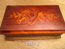 Vintage Reuge Sainte Croix Music Box Switzerlan