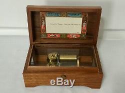 Vintage Reuge Sainte Croix Swiss Music Box Plays Lara's Theme Dr Zhivago 1/36