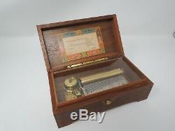 Vintage Reuge Sainte Croix Switzerland Music Box 4/50 45075 NEEDS REPAIR