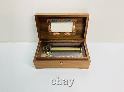 Vintage Reuge Sainte Croix Switzerland Music Box Hungarian Rhapsody F. Liszt 3/72