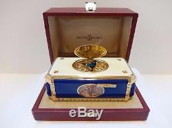 Vintage Reuge Singing Bird Box Automaton Clock Music Box (watch The Video)