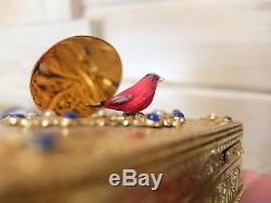 Vintage Reuge Singing Bird Box Bird Automaton Music Box (watch The Video)