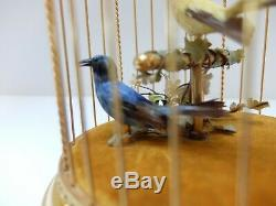 Vintage Reuge Singing Bird Cage Automaton Music Box (watch Video)