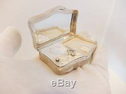 Vintage Reuge Solid Silver Miniature Music Box Musical Compact (watch The Video)