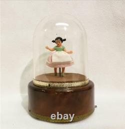 Vintage Reuge Spinning Ballerina Tale Of The Vienna Woods Music Box
