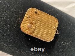 Vintage Reuge St. Croix Music Box Vintage Goldtone Windup Keychain Pendant