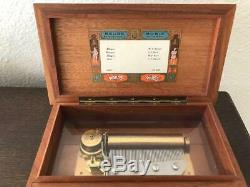 Vintage Reuge St. Croix Swiss 4/50 Wood Music Box Mozart / Bach