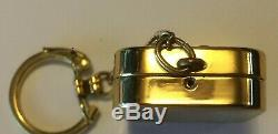 Vintage Reuge Ste-Croix Gold-Tone Music Box with Key Chain, Swiss Made