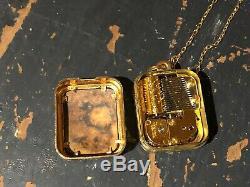Vintage Reuge Sterling Silver & Enamel Musical Charm Pendant