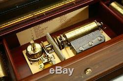 Vintage Reuge Strauss Music Box Cylinder Franklin Mint Pristine No Reserve