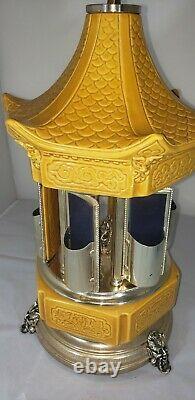 Vintage Reuge Swiss Movement Cherub Gold Lipstick/Cigarette Music Box