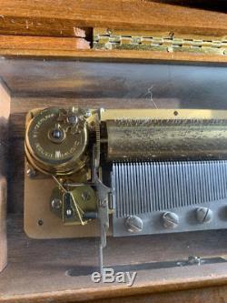 Vintage Reuge Swiss Music Box 72 Note 3 Melodies