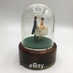 Vintage Reuge Swiss Musical Dancing Ballerina Couple Raindrops Keep Falling