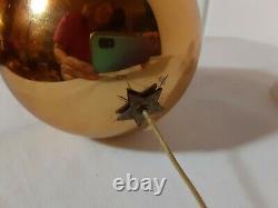 Vintage Reuge Swiss Musical Mechanical Christmas Gold ball Ornament music box
