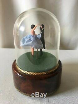 Vintage Reuge Swiss Musical Movement Dancing Music Box, plays Doctor Zhivago