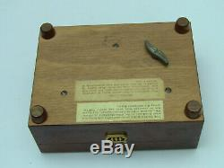 Vintage Reuge Thuya Burl Wood Music Box Edelweiss (Parts 1 & 2) CH 2/50