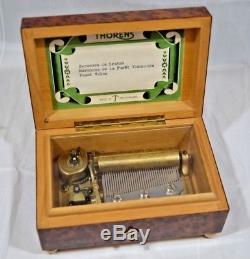 Vintage SWISS THORENS Pre Reuge Music Box 50 Key Excellent Condition ##WOLgaa2jw